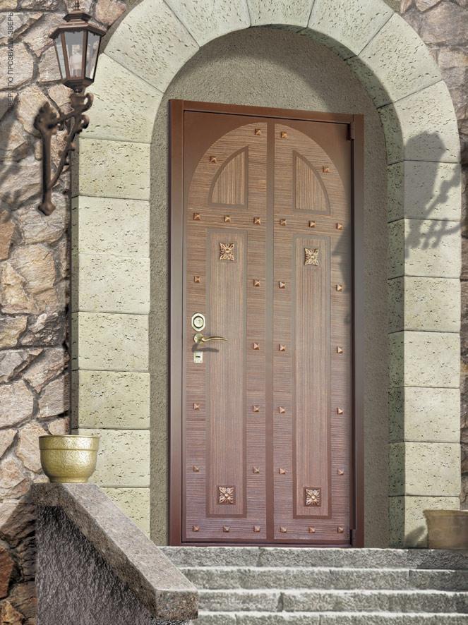 простые металлические двери без отделки