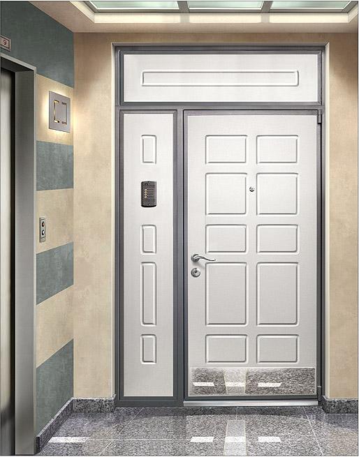 дверь металлическая двустворчатая с фрамугой производство