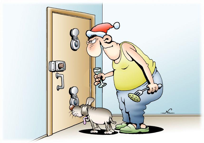 Прикол на дверь входную с картинкой
