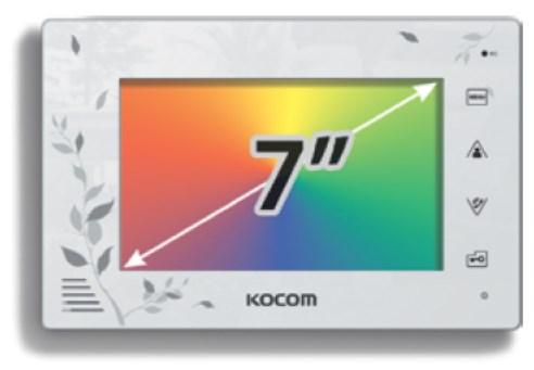 """Комплект с установкой видеодомофона KOKOM KCV A374 LE 7"""""""