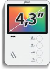 """Комплект с установкой видеодомофона J2000-DF 4,3"""""""