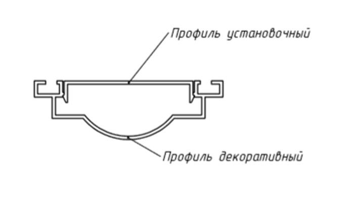 Рамка алюминиевая для стеклопакета