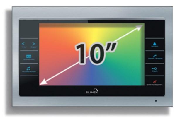 """Комплект с установкой видеодомофона регистратора SLINEX SL-10 IP 10"""""""