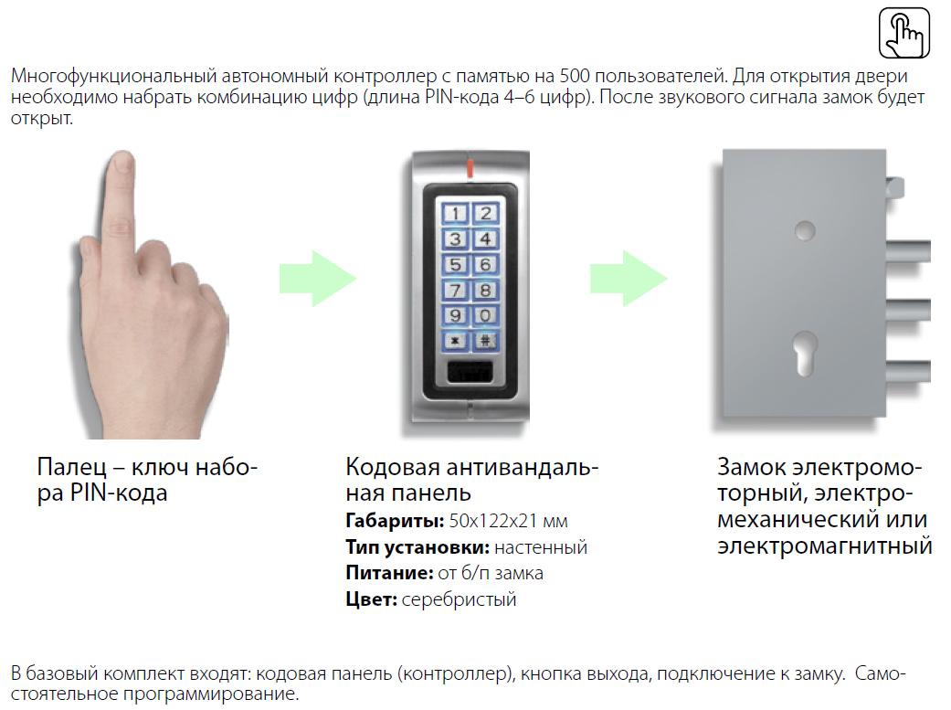 Cистема контроля доступа КОДОВАЯ ПАНЕЛЬ