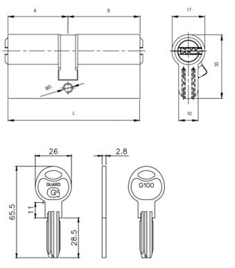 Цилиндр Guard G100