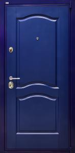 dpz_0000049 ДПЗ одностворчатая правая наружу панель Ультра краска на 16 мм рис.31цвет Синий цвет порошкового напыления синий RAL 5003 Цельнотянутый металлический наличник Два замка.Основной цилиндровый,дополнительный сувальдный Ручка Siena,цвет хром блестящий,броненакладка Дисек(Disec),цвет хром блестящий,сувальдная накладка Mottura цвет хром блестящий,глазок