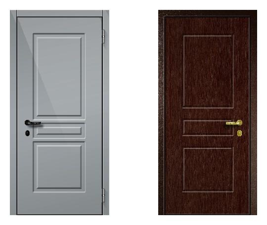 Стальная дверь ДПЗ 150Т ВЗ-я серия (только наружного открывания) под панели с 2-х сторон (лист 2 мм) #1631380901